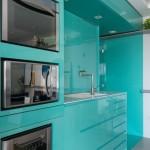 4-electrocasnice bucatarie integrate in mobilier turcoaz design minimalist