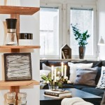 4-etajera decorativa din lemn stalp living si bucatarie open space apartament