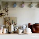 4-etajera decorativa suprt cesti cafea bucatarie rustica