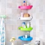 4-etajera plastic de colt cu ventuze pentru baie pret 2 euro