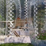 4-foisoare futuriste din policarbonat transparent SHJWorks Danemarca
