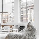 4-fotoliu puf mare imbracat in husa tricotata decor living stil scandinav