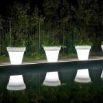 4-ghivece luminoase pentru iluminatul nocturn al gradinii