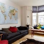 4-harta lumii decor perete gol living