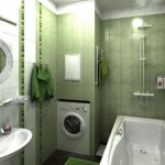 4-idee amenajare baie moderna in doua nuante de verde