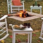 4-idee constructie foc de tabara decorativ