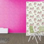 4-idei asortare tapet decorativ in buline cu tapet decorativ cu imprimeu floral