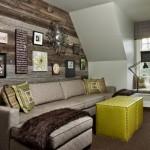 4-interior living amenajat vintage perete placat cu dusumea lemn