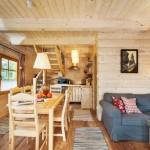 4-interior parter casa mica din barne de lemn 52 mp