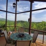 4-interior veranda mare pereti sticla casa din lemn 65 mp