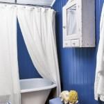 4-lambriu pvc plastic albastru decor baie stil maritim