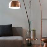 4-lampadar picior curbat culoare aramie amenajare living modern