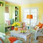 4-living amenajat in alb vernil si portocaliu