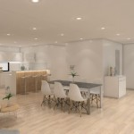 4-living cu bucatarie si dining open space casa modulara Coodo 64UP