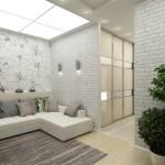 4-living deschis spre holul apartamentului modern design Maria Grom