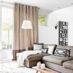 4-living modern decorat in alb crem si bej