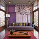 4-living modern minimalist influente asiatice in violet si maro