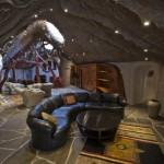 4-living open space casa in forma de ciuperca