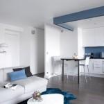 4-living si bucatarie open space apartament doua camere modern dupa renovare