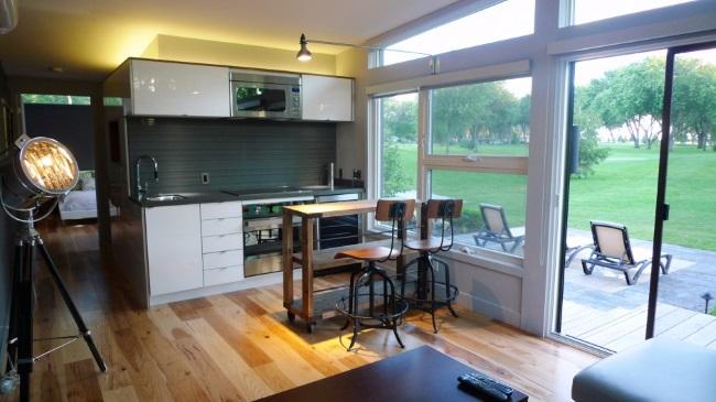 4-living si bucatarie open space casa mica 44 mp doar parter