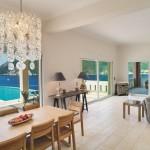 4-loc de luat masa si living open space casa de vacanta Meganissi Grecia