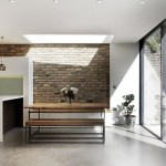 4-loc de luat masa stil industrial bucatarie open space apartament Notting Hill