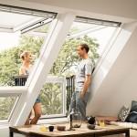 4-mansarda dotata cu ferestre transformabile in balcoane Velux Cabrio
