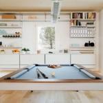 4-masa biliard living interior casa ecologica din lemn NOEM Spania