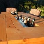 4-masa de terasa cu racitor pentru sticle de bautura incorporat