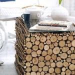 4-masuta de cafea cubica realizata din vreascuri uscate de lemn