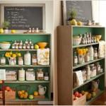 4-mini camara pentru ingredientele de patiserie si cofetarie intr-o etajera din bucatarie