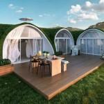 4-model casa ecologica acoperita cu pamant si gazon cu terasa si multe camere