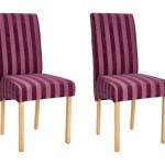 4-model scaune elegant tapiterie mov in dungi si picioare din lemn