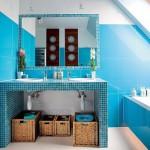 4-mozaic albastru combinat cu faianta albastra design baie moderna