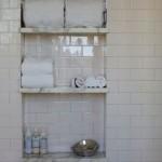 4-nisa in perete cu polite din marmura decor baie