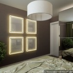 4-panouri iluminat decorativ din sticla alba mata amenajare dormitor modern 12 mp