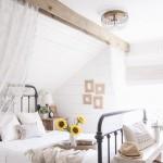 4-pat din fier forjat in amenajarea unui dormitor rustic