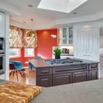 4-perete bucatarie zugravit in coraille culoarea Living Coral 2019