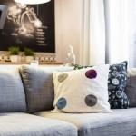 4-pernute decorative canapea gri living apartament modern Polonia