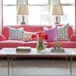 4-pernute decorative colorate canapea roz living