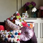 4-pernute decorative cu imprimeu floral