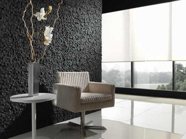 4-piatra naturala gri antracit decor perete living modern minimalist