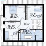 4-plan etaj proiect casa z102 model 2018