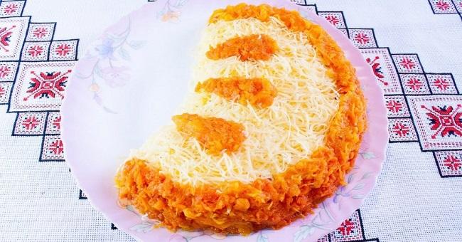 4-salata festiva de Craciun sau Revelion Felie de portocala