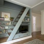 4-scara interior compacta din lemn model liniar cu balustrada metal