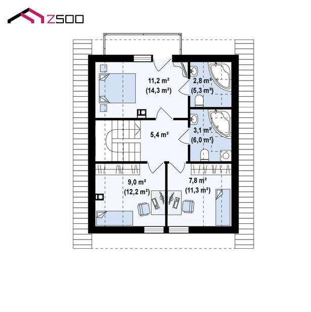 4-schita-plan-mansarda-casa-120-mp-4-dormitoare