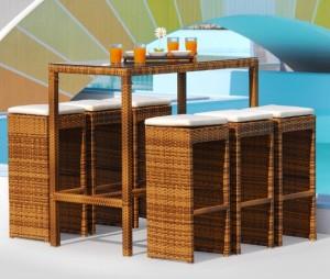 4-set bar cu masa inalta si 6 scaune magazin Naturlich