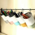 4-suport handmade pentru pixuri si rechizite din cutii de conserve