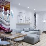 4-tablou abstract colorat accentuare loc de luat masa living modern scandinav