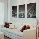 4-tablouri decor perete deasupra canapelei din living